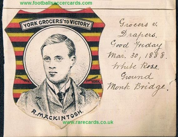 1888 Baines York Grocers v Drapers UNIQUE